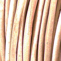 Genuine Leather Cord - 3mm - Round- Natural