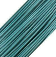 Genuine Leather Cord - 1mm - Round- Turquoise (1 Yard)