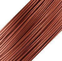 Genuine Leather Cord - 1mm - Round- Metallic Copper