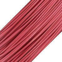 Genuine Leather Cord - 1mm - Round- Rose Pink