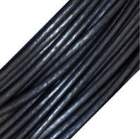 Genuine Leather Cord - 1mm - Round- Metallic Gun Metal Grey