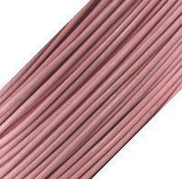 Genuine Leather Cord - 1mm - Round- Soft Pink