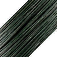 Genuine Leather Cord - 1mm - Round- Dark Green
