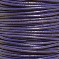 Genuine Leather Cord - 2mm - Round- Purple Violet