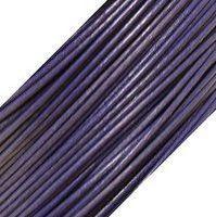 Genuine Leather Cord - 1mm - Round- Purple Violet