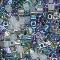 Miyuki 4mm Glass Cube Beads Serenity Mix (20 Grams)