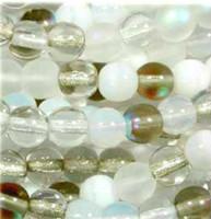 Czech Glass Druk 8mm Round Apparition Mix (50)