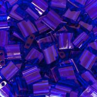 Miyuki Tila Beads, Transparent Cobalt 10 grams