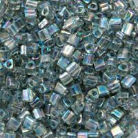 Size 11 Toho Triangle Beads, Transparent Gray AB (1 ounce)