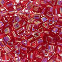 Size 8 Toho Triangle Beads, Ruby AB (1 ounce)