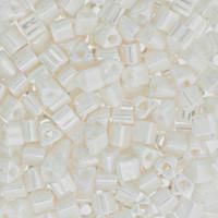 Size 8 Toho Triangle Beads, Opaque Luster Navajo White (1 ounce)