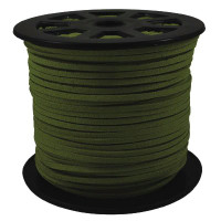 Faux Leather Suede Beading Cord, Hunter Green (10 ft)