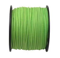 Faux Leather Suede Beading Cord, Lime Green
