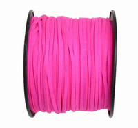 Faux Leather Suede Beading Cord, Neon Pink