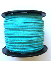 Faux Leather Suede Beading Cord, Metallic Turquoise
