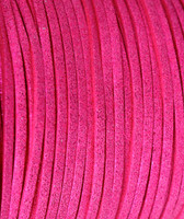 Faux Leather Suede Beading Cord, Metallic Hot Pink (10 feet)