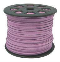 Faux Leather Suede Beading Cord, Medium Purple, Bulk Roll , 300 Feet (100 Yards)