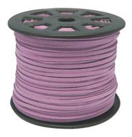 Faux Leather Suede Beading Cord, Medium Purple, Bulk Roll , 300 Feet (100 Yards)