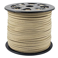 Faux Leather Suede Beading Cord, Cream Beige (10 ft)