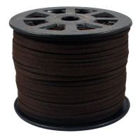 Faux Leather Suede Beading Cord, Espresso Brown