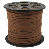 Faux Leather Suede Beading Cord, Medium Brown