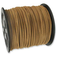 Faux Leather Suede Beading Cord, Light Brown