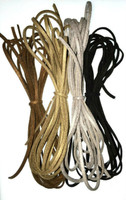 UnCommon Artistry Faux Suede Leather Cord Variety Pack, Metallic Mix