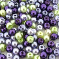 UnCommon Artistry Glass Pearl Mix 200pcs 6mm - Lavender Garden Mix