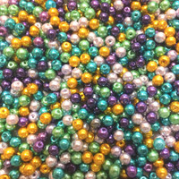 UnCommon Artistry Glass Pearl Mix 100pcs 8mm - Peacock Mix