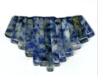 Sodalite Gemstone Fan - Bib - 13 piece Dagger Collar