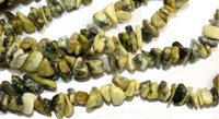 Yellow Turquoise Chips 5-10mm Beads/ 35 Inch Strand