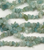 Amazonite Chips 5-10mm Beads/ 35 Inch Strand