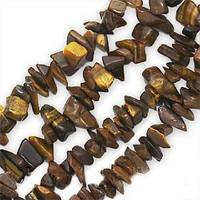 Tiger Eye Chips 5-10mm Beads/ 35 Inch Strand