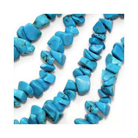 Turquoise Chips 5-10mm Beads/ 35 Inch Strand