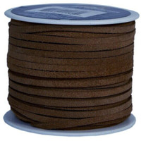 Genuine Split Suede Leather Lace Cord 3mm Brown 5 Yards
