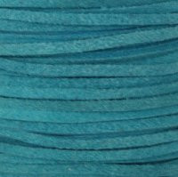 Genuine Split Suede Leather Lace Cord 3mm Turquoise