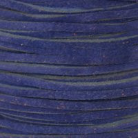 Genuine Split Suede Leather Lace Cord 3mm Cobalt Blue