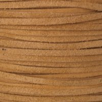 Genuine Split Suede Leather Lace Cord 3mm Natural