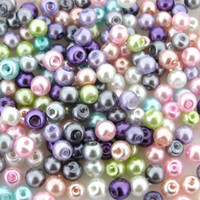 UnCommon Artistry Glass Pearl Mix 200pcs 4mm - Spring Mix