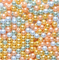UnCommon Artistry Glass Pearl Mix 200pcs 4mm - Coastal Sunrise Mix