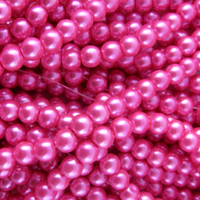 UnCommon Artistry Glass Pearl Beads 200pcs 6mm - Hot Pink