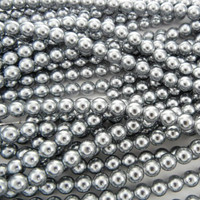 UnCommon Artistry Glass Pearl Beads 200pcs 6mm - Silver