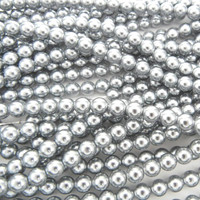 UnCommon Artistry Glass Pearl Beads 200pcs 4mm - Silver