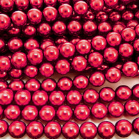 UnCommon Artistry Glass Pearl Beads 200pcs 4mm - Cranberry Red