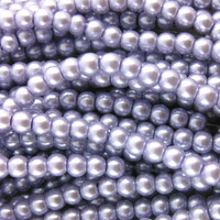 UnCommon Artistry Glass Pearl Beads 6mm - Lilac - 100pcs