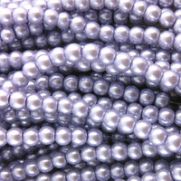 Glass Pearl Beads 100pcs 8mm - Lilac