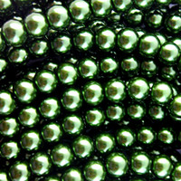 UnCommon Artistry Glass Pearl Beads - 6mm - Evergreen - 100 pcs