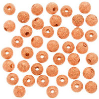 Copper Plated Stardust Sparkle Round Beads 4mm (100)