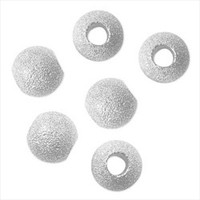 Silver Plated Stardust Sparkle 12mm Round Beads (Large Hole) (10)