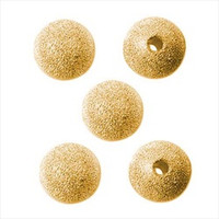 22K Gold Plated Stardust Sparkle Round Beads 14mm (10)